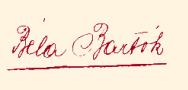 Signatuur van Béla Bartók