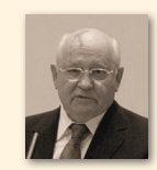 Michail Gorbatsjov, partijleider in de Sovjetunie, later tevens president