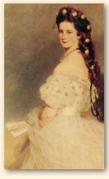 Kaiserin Elisabeth, portret uit 1864, van Franz Xaver Winterhalter (1805-1873)