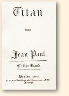 Titelpagina van Jean Pauls roman Titan