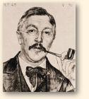 Jacobus van Looy. Tekening door Jan Pieter Veth, 1896